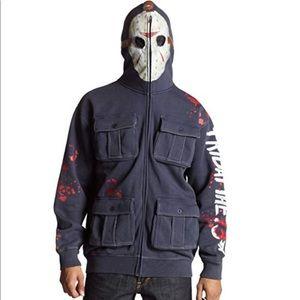🆕Rare Ecko Friday The 13Th Jason Mask Zip Hoodie